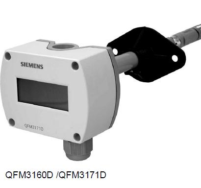 西门子风管温湿度传感器QFM3171D带液晶显示